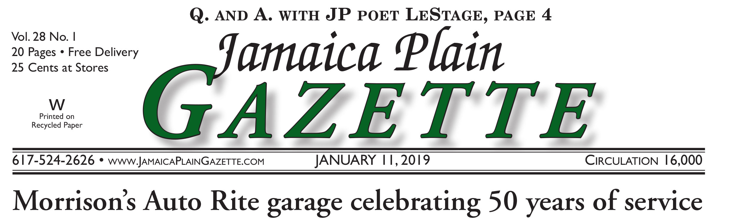 Jamaica Plain Gazette
